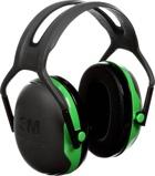 Afbeelding van3M Peltor X1A Gehoorkap Met Hoofdband Zwart/groen Passieve Gehoorkappen
