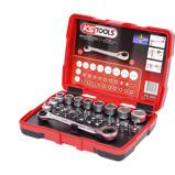 Imagen deKS Tools TORSIONpower Carraca, vasos y puntas 31 piezas 11 mm 918.3050