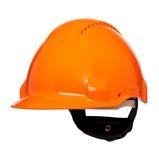 Afbeelding van3M Peltor G3000DUV OR Veiligheidshelm met pinlock Oranje Leren sweatband