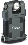 Afbeelding vanFAVOUR Werklamp EDCLIP grijs en zwart T2342