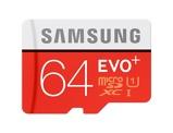 Afbeelding vanSamsung microSDXC EVO+ 64 GB 100MB/s CL 10 + SD adapter geheugenkaart