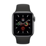 Afbeelding vanApple Watch Series 5 40mm Spacegrijs aluminium Zwart sportbandje