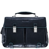 Afbeelding vanPiquadro Blue Square Briefcase Frontpocket Cab Blu Notte