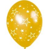 Afbeelding vanAnagram ballonnen Stars All Over 27,5 cm goud 25 stuks