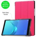 Afbeelding vanCasualCases 3 Vouw sleepcover Huawei MediaPad M5 8.4 inch roze