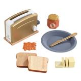 Afbeelding vanKidKraft houten speelgoed toasterset Modern Metallics