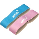 Afbeelding vanAmuse elastieken voor broodtrommel 15,5 cm roze/blauw 2 stuks