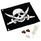 Imagen deAXI Bandera pirata 55x45 cm negra y blanca A507.012.00