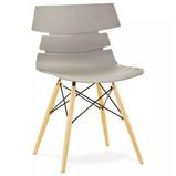 Afbeelding vanALTEREGO Moderne, grijze stoel 'SOFY' in Scandinavische stijl