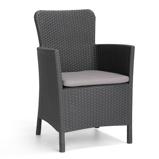Imagen deAllibert 409074 Trenton dining chair grafiet 226453(408946x6,Not for individual sale) Untranslated