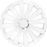 Afbeelding van4 Delige Wieldoppenset Spyder 14 inch Wit + Chroom Ring