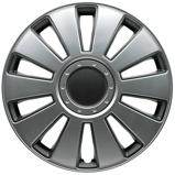 Afbeelding van4 Delige Wieldoppenset Pennsylvania 16 inch Zilver/charcoal Grijs