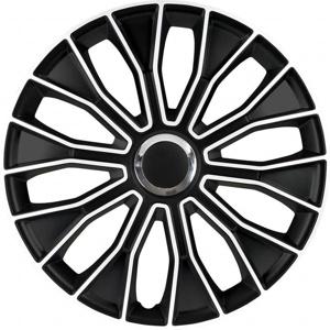 Afbeelding van 4 Delige Wieldoppenset Voltec Pro 15 inch Zwart/wit