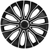 Afbeelding van4 Delige Wieldoppenset Voltec Pro 16 inch Zwart/wit