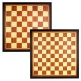 Afbeelding vanAbbey Game schaak en dambord hout bruin/ecru 49CG