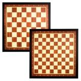 Afbeelding vanAbbey Game Schaak en dambord met bruine rand 49CD