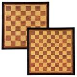 Afbeelding vanAbbey Game Dam en schaakbord 41x41 cm hout bruin beige