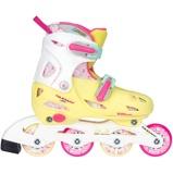 Afbeelding vanNijdam inlineskates meisjes verstelbaar geel/roze maat 30/33