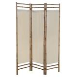 Afbeelding vanvidaXL Kamerscherm 3 panelen inklapbaar 120 cm bamboe en canvas