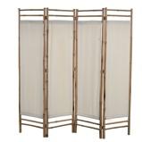 Afbeelding vanvidaXL Kamerscherm 4 panelen inklapbaar 160 cm bamboe en canvas