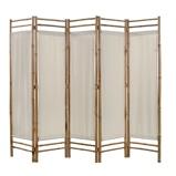 Afbeelding vanvidaXL Kamerscherm 5 panelen inklapbaar 200 cm bamboe en canvas