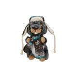 Afbeelding vanEddy Toys knuffel otter met muts en sjaal grijs/groen 19 cm