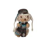 Afbeelding vanEddy Toys knuffel otter met muts en sjaal beige 19 cm