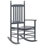 Afbeelding vanvidaXL Schommelstoel met gebogen zitting hout grijs