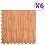Afbeelding vanvidaXL 6x Puzzelsportmatten 2,16 ㎡ EVA schuim houtnerfprint