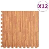 Afbeelding vanvidaXL 12x Puzzelsportmatten 4,32 ㎡ EVA schuim houtnerfprint