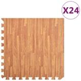 Afbeelding vanvidaXL 24x Puzzelsportmatten 8,64 ㎡ EVA schuim houtnerfprint