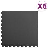 Afbeelding vanvidaXL 6x Puzzelsportmatten 2,16 ㎡ EVA schuim zwart