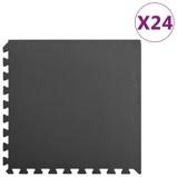 Afbeelding vanvidaXL 24x Puzzelsportmatten 8,64 ㎡ EVA schuim zwart