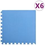 Afbeelding vanvidaXL 6x Puzzelsportmatten 2,16 ㎡ EVA schuim blauw