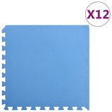 Afbeelding vanvidaXL 12x Puzzelsportmatten 4,32 ㎡ EVA schuim blauw