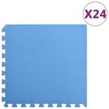 Afbeelding vanvidaXL 24x Puzzelsportmatten 8,64 ㎡ EVA schuim blauw