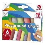 Afbeelding vanClown 6 Pakjes stoepkrijtjes voor kinderen stuks stoepkrijt