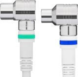 Afbeelding van10m Coaxkabel Technetix Ziggo geschikt Wit kabelkeur 4G/LTE Proof