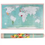 ObrázekStírací mapa světa