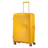 Afbeelding vanAmerican Tourister Soundbox Spinner 77 Expandable Golden Yellow - Harde Koffers