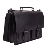 Afbeelding vanLeonhard Heyden Dakota Briefcase 2 Compartments Black 2826 Laptop Schoudertassen