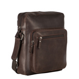 Afbeelding vanLeonhard Heyden Dakota Messenger Bag S Brown 7486 Laptop Schoudertassen
