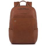 Afbeelding vanPiquadro Black Square Backpack 13'' Tobacco Laptop Backpacks