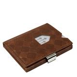 Afbeelding vanExentri Wallet met RFID Bescherming Hazelnut Chess Dames portemonnees