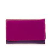 Afbeelding vanMywalit Medium Tri Fold Wallet Outer Zip Portemonnee Sangria Multi Dames portemonnees