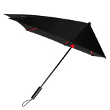 Afbeelding vanImpliva STORMaxi Stormparaplu Special Edition Black Red Paraplu's