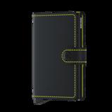 Afbeelding vanSecrid Mini Wallet Portemonnee Matte Black/ Yellow Dames portemonnees