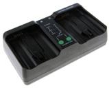 """Bild av""""Dubbelladdare för 2 batterier Nikon EN EL18 och EN EL18b"""""""
