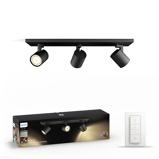 Afbeelding vanphilips Hue Runner 3lamps spot zwart dimschakelaar, voor woon / eetkamer, metaal, GU10, 5.5 W, energie efficiëntie: A, L: 48 cm, B: 9 H: 10.9 cm