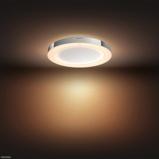 Afbeelding vanphilips Hue White Ambiance Adore badk. plafondlamp, voor badkamer, metaal, kunststof, 40 W, energie efficiëntie: A+, H: 6 cm